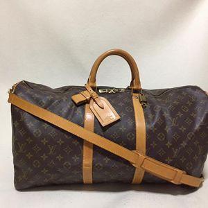 Louis Vuitton 路易·威登keepall 55老花肩带款旅行袋