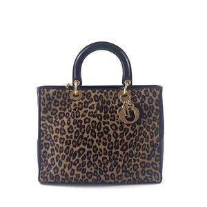Dior 迪奥限量款豹纹女士手提包