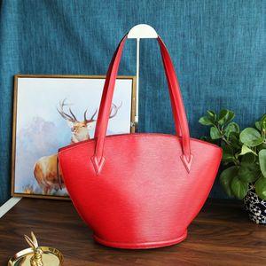 Louis Vuitton 路易·威登番茄红水波纹中古贝壳单肩包