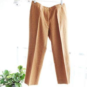 Celine 赛琳 CELINE赛琳YF10225姜黄真丝羊绒休闲裤西裤