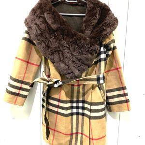 Burberry 博柏利女士羊绒外套风衣