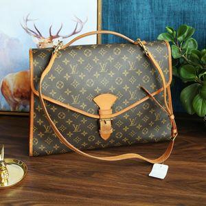 Louis Vuitton 路易·威登LX10002经典老花手提单肩中古公文包