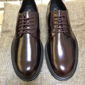 TOD'S 托德斯深咖色重工男士系带正装皮鞋