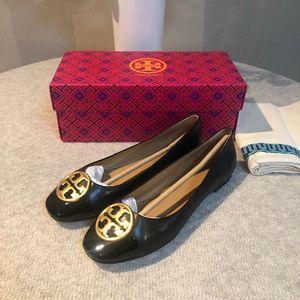 Tory Burch 托里·伯奇女士简约皮革单鞋平底鞋黑色