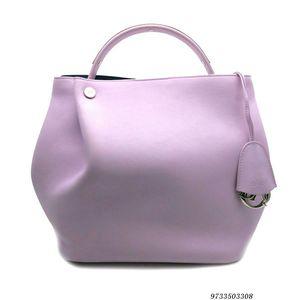 Dior 迪奥浅紫色小牛皮水桶单肩手提包