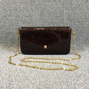 Louis Vuitton 路易·威登车厘子漆皮felicie三合一手拿单肩斜挎链条包