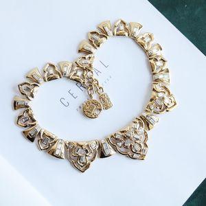 Yves Saint Laurent 伊夫·圣罗兰重金视觉系巴黎时装走秀必备款复古富贵项链锁骨链