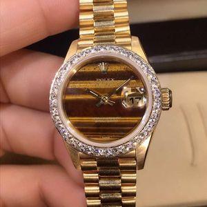 Rolex 劳力士18k黄金自动机械女表