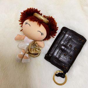 Chloé 蔻依大金环机车款6环全皮钥匙包