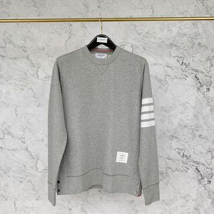 Thom Browne 汤姆·布朗浅灰运动卫衣圆领套头衫