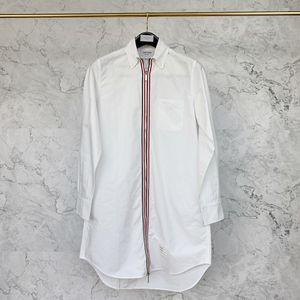 Thom Browne 汤姆·布朗女士白色长款拉链衬衣