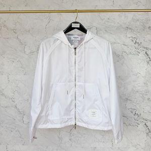 Thom Browne 汤姆·布朗白色拉链夹克