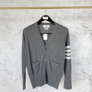 Thom Browne 汤姆·布朗4条纹纯羊绒开衫