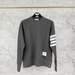 Thom Browne 汤姆·布朗深灰色运动卫衣圆领套头衫