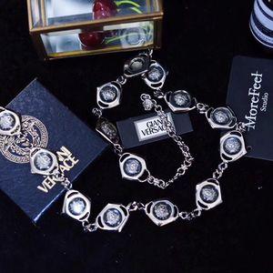 Versace 范思哲 透明琥珀银色项链