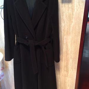 MaxMara 麦丝玛拉 女款黑色腰带大牌大衣