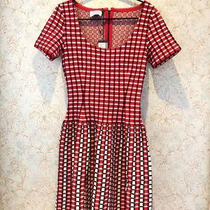 PRADA 普拉达女士针织网格连衣裙