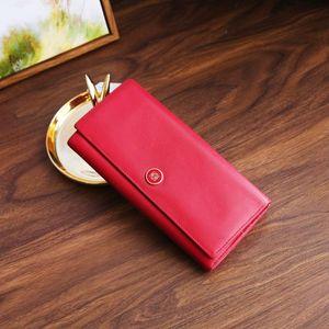 LOEWE 罗意威QB08120莓红色长款女士钱包