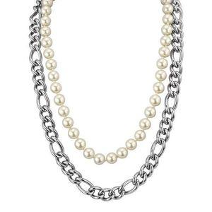 DOLCE&GABBANA 杜嘉班纳珍珠链条双层项链