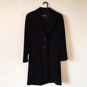 MaxMara 麦丝玛拉羊毛西服领长款大衣