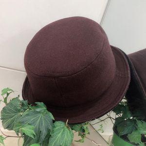 Burberry 博柏利咖啡色羊毛呢子帽子