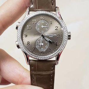 PATEK PHILIPPE 百达翡丽复杂功能计时系列7134G-001原镶钻石灰面自动机械女士手表
