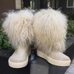 Moncler 蒙口白色毛毛雪地靴