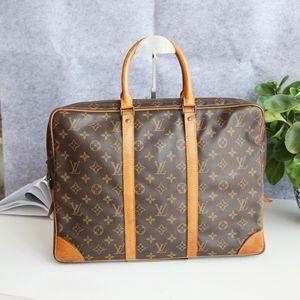 Louis Vuitton 路易.威登老花配皮公文包