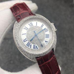 Cartier 卡地钥匙系列WSCL0017后镶满天星女士自动机械表