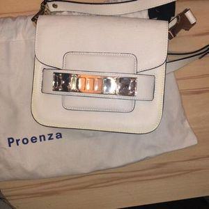 Proenza Schouler 普罗恩萨·施罗11 square tiny 白色