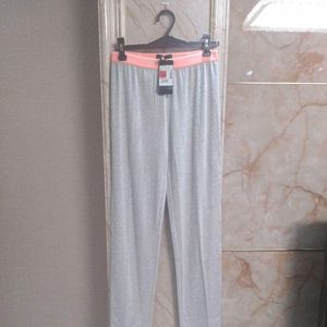 Emporio Armani 安普里奥·阿玛尼浅灰色低腰瑜伽女裤