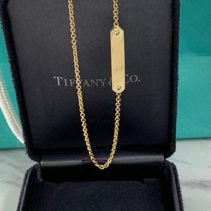 Tiffany & Co. 蒂芙尼18k金吊饰链结式项链