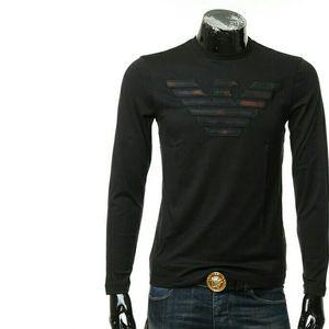 Emporio Armani 安普里奥·阿玛尼男士修身长袖鹰标T恤