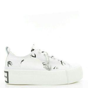 Alexander McQueen 亚历山大·麦昆燕子厚底帆布休闲鞋