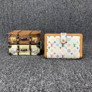 Louis Vuitton 路易·威登白三彩短款钱包