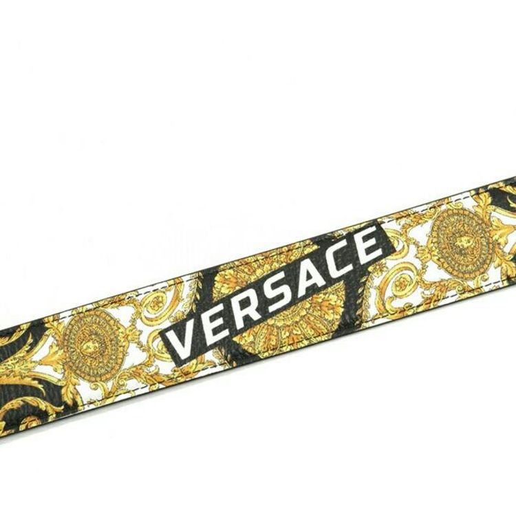 Versace 范思哲金头美杜莎印花真皮男士2面用皮带