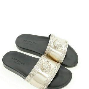 Versace 范思哲美杜莎男士居家一字拖拖鞋