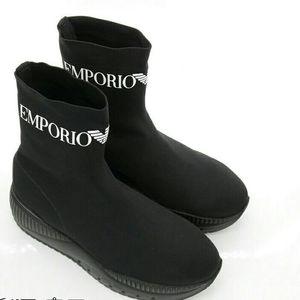 Emporio Armani 安普里奥·阿玛尼男士高帮袜子鞋休闲鞋