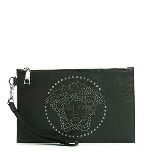 Versace 范思哲美杜莎真皮手拿包
