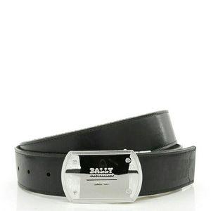 BALLY 巴利真皮拼帆布男士2面用皮带腰带