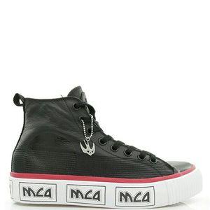Alexander McQueen 亚历山大·麦昆男燕子真皮高帮休闲鞋