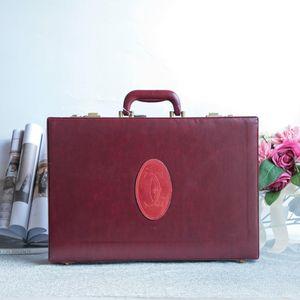 Cartier 卡地亚LX10035经典莓红色古董箱密码箱手套箱旅行箱