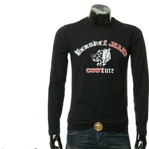 Versace Jeans 范思哲男士虎头长袖圆领T恤