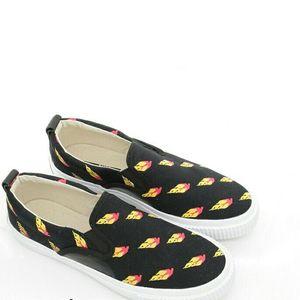 Alexander McQueen 亚历山大·麦昆男士火焰帆布一脚蹬休闲鞋