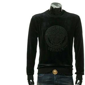 Versace 范思哲美杜莎男士丝绒套头卫衣上衣