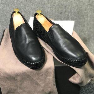 Bottega Veneta 葆蝶家男士黑色渔夫经典时尚休闲鞋