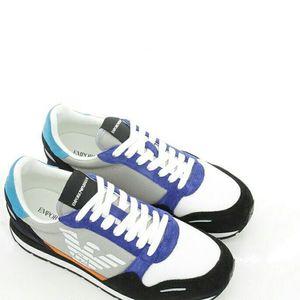 Emporio Armani 安普里奥·阿玛尼男轻便拼色时尚休闲运动鞋