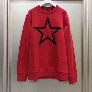GIVENCHY纪梵希女士红色黑星星卫衣