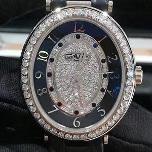 DeWitt 迪威特原镶钻白金自动机械女士腕表