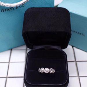 Tiffany & Co. 蒂芙尼circlet系列铂金钻石圈环戒指1.08克拉